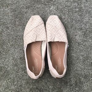 Toms cream Aztec shoes